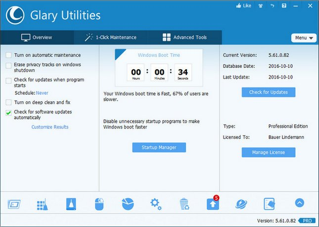 Glary Utilities PRO 5.96.0.118 Crack Serial key full Download